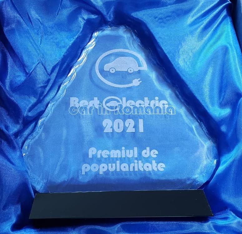 Trofeu Popularitate Best Electric Car 2021